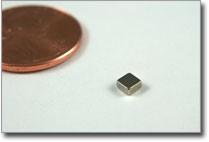 3 x 3 x 1.5mm N38 Nickel Plated Block Magnet