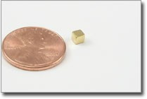 Small gold cube rare earth magnet 3mm