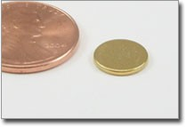 thin gold plated rare earth disc magnet