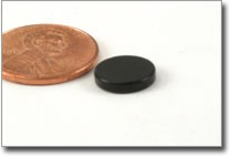 medium black epoxy coated disc magnet