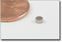 4x<1.5mm> Nickel Plated Disc Magnet