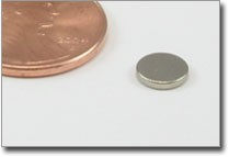 D6x1mm N38 Nickel Plated Disc Magnet