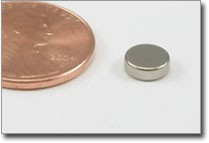 6x2mm nickel plated disc magnet