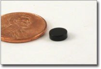 black epoxy coated 6x2mm disc magnet