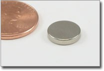 10x2mm nickel plated rare earth disc magnet